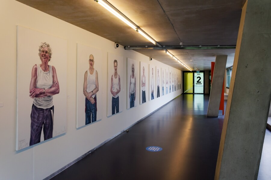 Kunst wand in Kunsthal in Rotterdam