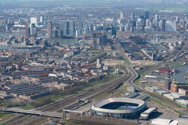 Feyenoord stadion De Kuip en Rotterdam