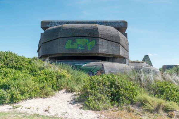 Bunker aan het strand
