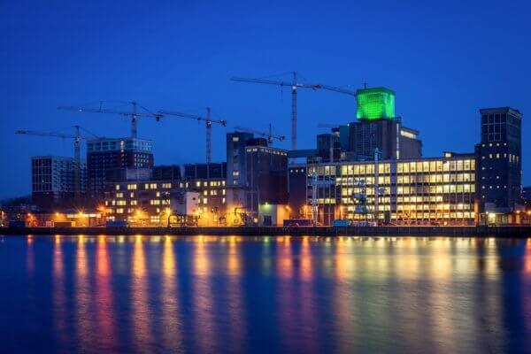 Rotterdam Zuid in het donker